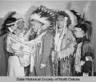Basil O'Connor receiving headdress