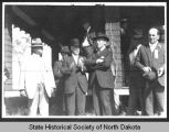 Woodrow Wilson, Lynn J. Frazier and others, Bismarck, N.D.