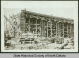 Liberty Memorial Bridge under construction, Bismarck, N.D.