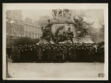 American Red Cross General Headquarters staff at Gambetta statue, Paris, France