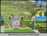 Medora mini golf postcard