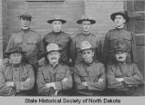 Frank White and North Dakota Infantry field staff, Bismarck. N.D.