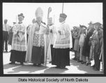 Bishop Vincent Ryan after enthronement ceremony, Bismarck, N.D.