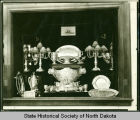 U.S.S. North Dakota silver service exhibit, Liberty Memorial Building, Bismarck, N.D.