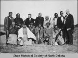 Usher Burdick and group of Indians