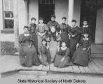 Women students at Fort Totten Indian School, Fort Totten, N.D.