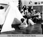 Native arts class, Bismarck Indian School, Bismarck, N.D.
