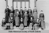 Female students at Fort Totten Indian School, Fort Totten, N.D.