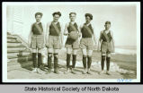 Members of Brisbane High School basketball team, Brisbane, N.D.