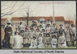 Indian school girls at Fort Totten, N.D.