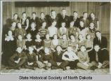 Goodrich School seventh and eighth grade class portrait, Goodrich, N.D.