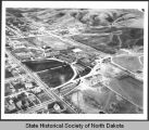 Aerial view of Minot State Normal School, Minot, N.D.