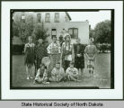 Students in traditional dress and costumes, Bismarck Indian School, Bismarck, N.D.