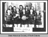 Girls basketball team, Cogswell, N.D.