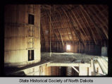 Niels Nielson barn, interior roof view, Noonan, N.D. vicinity