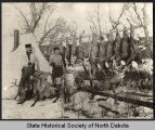 Frank Brennan and Bob Fisher's hunting camp, Badlands, Dakota Territory