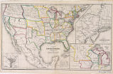 Political map of the United States, Mexico and the British provinces