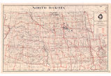 Map of trunk highway system, state of North Dakota, 1924