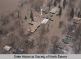 Flooded homes, Grand Forks, N.D.