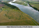 Aerial view of Double Ditch Indian Village site