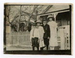 Milde children standing outside their home, Bismarck, N.D.