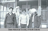 Boys in hats, Fort Berthold Indian Reservation, N.D.