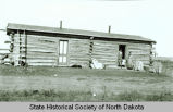 Log house, Fort Berthold Indian Reservation, N.D.