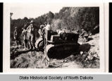 Civilian Conservation Corps crew working on Baldhill Dam, north of Valley City, N.D.