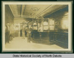 Lobby of First National Bank, Bismarck, N.D.