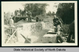 Squaw Creek bridge construction, McKenzie County, N.D.