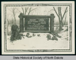 Man and Squaw Creek park sign, McKenzie County, N.D.