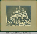 Bowbells High School athletes with trophy, Bowbells, N.D.