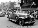 Franklin D. Roosevelt in parade, Devils Lake, N.D.