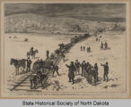 Across the Missouri River by rail, Bismarck, Dakota Territory