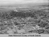 Aerial view of Bismarck looking north