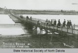 Pontoon bridge at Williston, N.D.