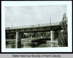 Bridge at State line between Fargo, N.D. and Moorhead, Minn.