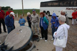 Looking at hatch at November 33 launch facility near Cooperstown, N.D.