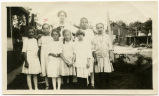 Elsie Milde with Sunday School class, Bismarck, N.D.