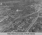 Aerial view of Bismarck, N.D.