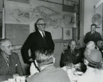 C. Norman Brunsdale at Garrison Dam planning meeting
