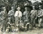 C. Norman Brunsdale and soldiers at Fort Rucker, Alabama