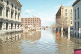 Flooded downtown street, Grand Forks, N.D.