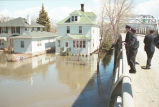 Flood waters near the Kennedy Bridge, Grand Forks, N.D.