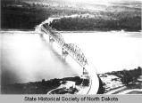 Aerial view of Liberty Memorial Bridge, Bismarck N.D.