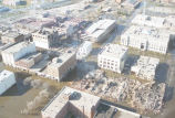 Aerial view of flooding in North 3rd Street area, Grand Forks, N.D.