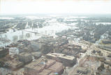 Aerial view of downtown flooding, Grand Forks, N.D.