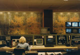 Woman at state radio command control center, Bismarck, N.D.