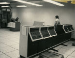 Motorola command consoles being installed in State Radio System command center, Bismarck, N.D.