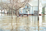 Flood waters on 4th Avenue North, Grand Forks, N.D.